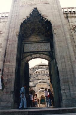 Entrada Mezquita Azul