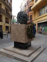 Escultura homejaje a Vicente Blasco Ibáñez