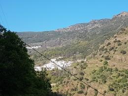 Vista desde el cortijo de los pueblos del Barranco