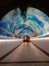 Tunel que une La Concha con Ondarreta.