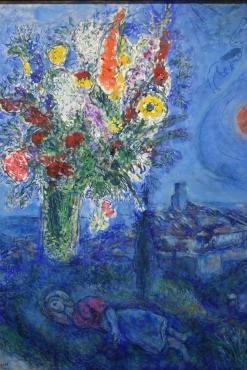 La cama con flores. Chagall