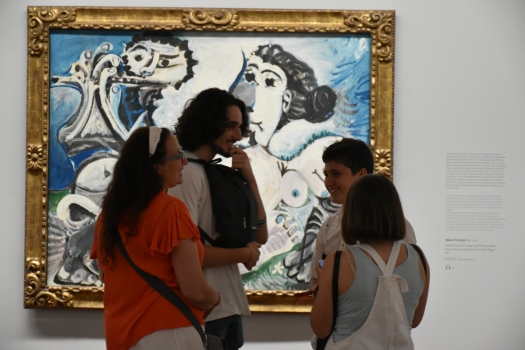 Mujer desnuda con pájaro. Picasso