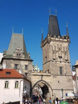 Torre del puente de Judit y Torre del puente de Malá Strana.